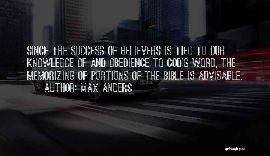Success In The Bible Quotes By Max Anders