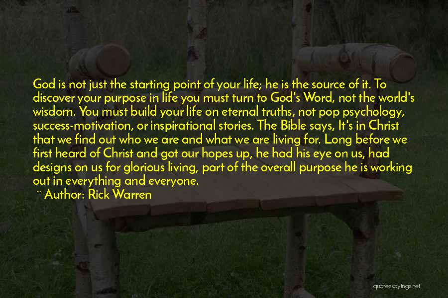 Success In The Bible Quotes By Rick Warren