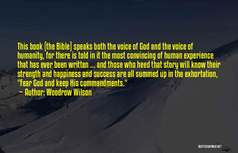 Success In The Bible Quotes By Woodrow Wilson