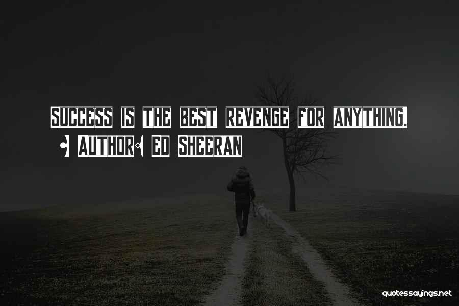 Success Is The Best Revenge Quotes By Ed Sheeran