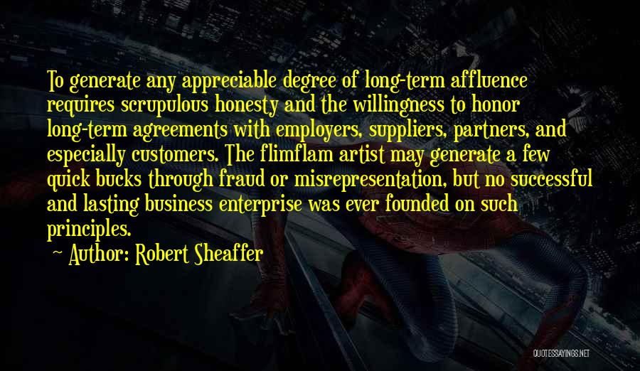 Successful Business Partners Quotes By Robert Sheaffer