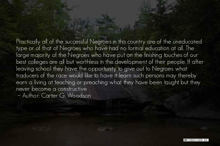 Successful Education Quotes By Carter G. Woodson