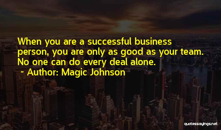 Successful Person Quotes By Magic Johnson