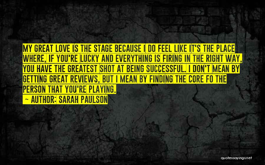 Successful Person Quotes By Sarah Paulson