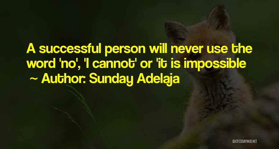 Successful Person Quotes By Sunday Adelaja