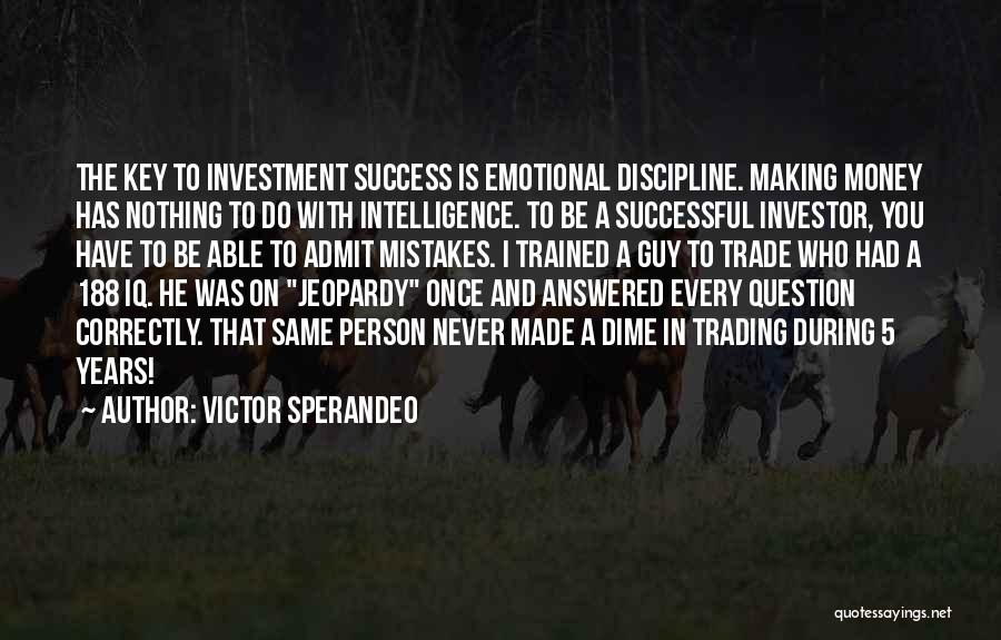 Successful Person Quotes By Victor Sperandeo