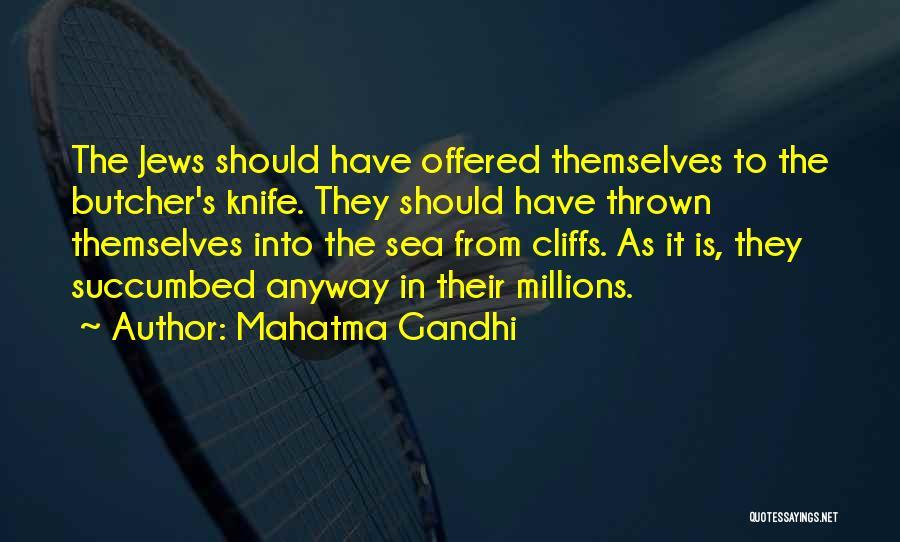 Succumbed Quotes By Mahatma Gandhi