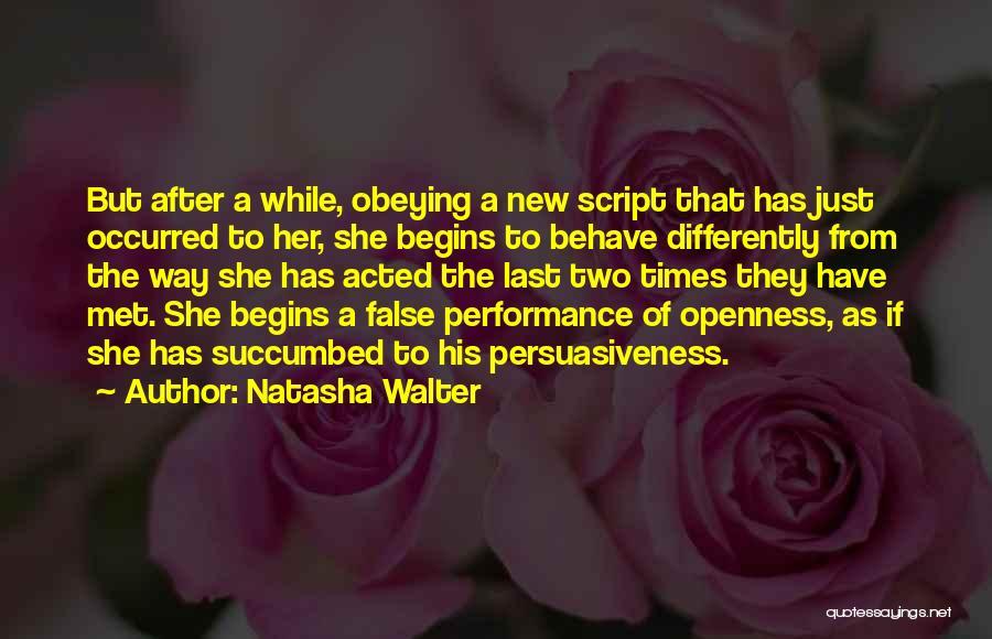 Succumbed Quotes By Natasha Walter