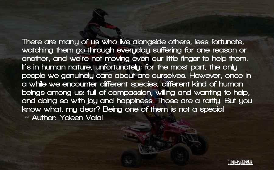 Suffering And Compassion Quotes By Yoleen Valai