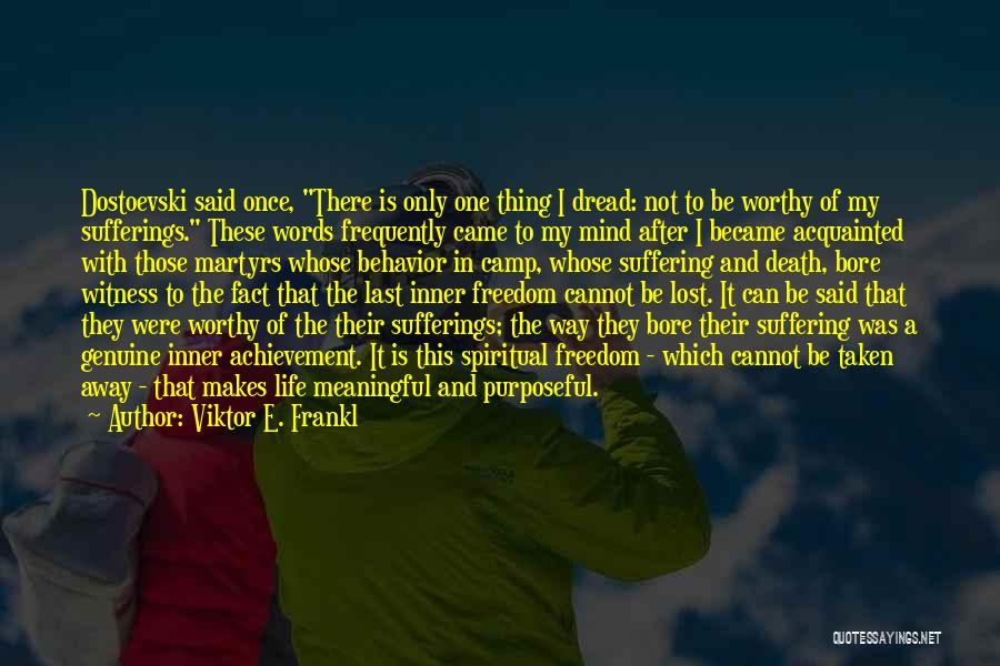 Sufferings In Life Quotes By Viktor E. Frankl