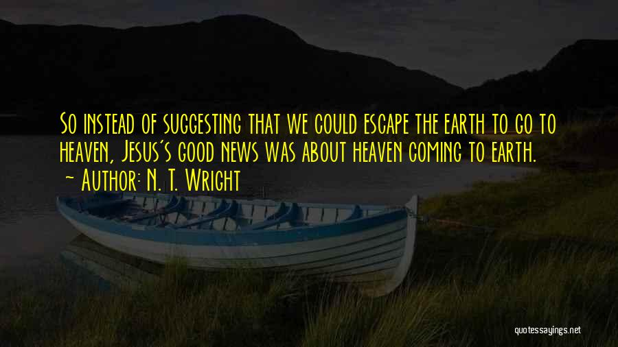 Suggesting Quotes By N. T. Wright