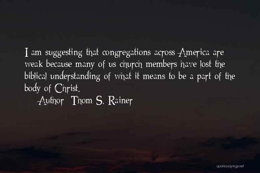 Suggesting Quotes By Thom S. Rainer