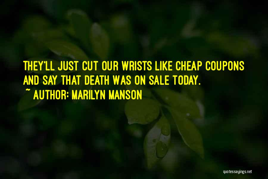 Suicide And Cutting Quotes By Marilyn Manson