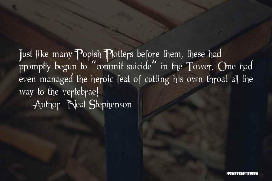 Suicide And Cutting Quotes By Neal Stephenson
