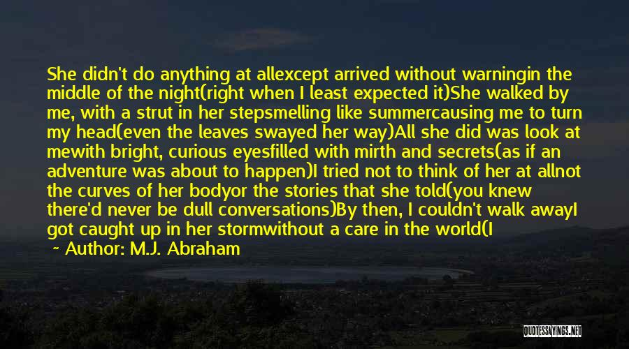 Summer And Sunshine Quotes By M.J. Abraham