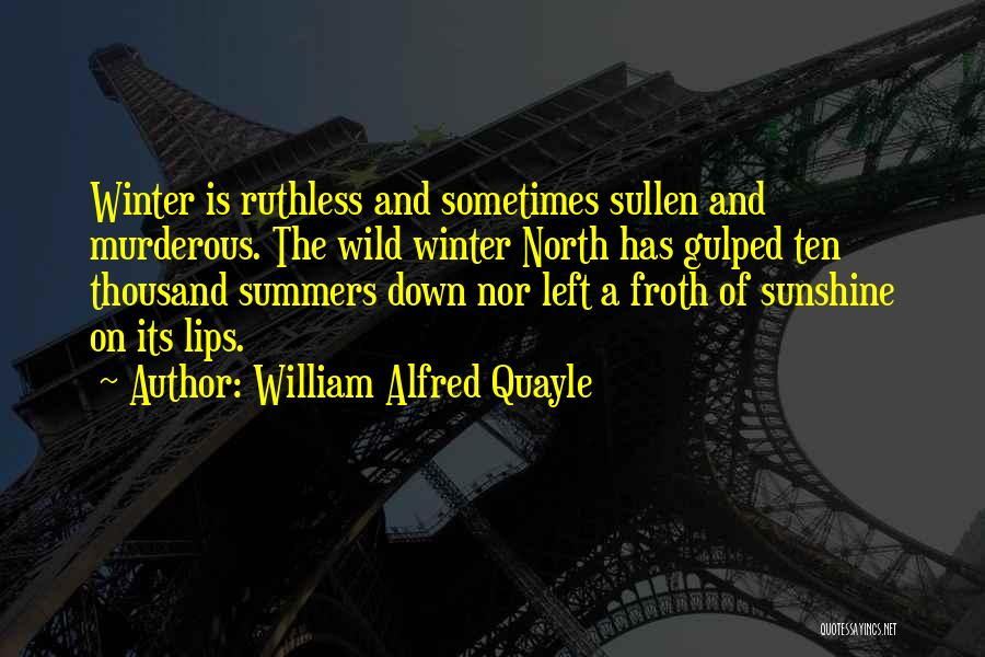 Summer And Sunshine Quotes By William Alfred Quayle