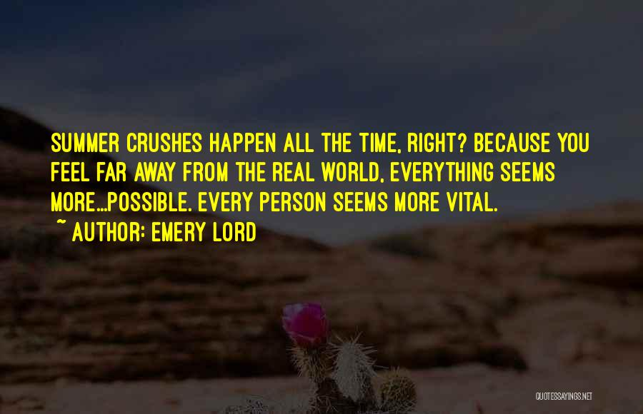 Summer Crushes Quotes By Emery Lord