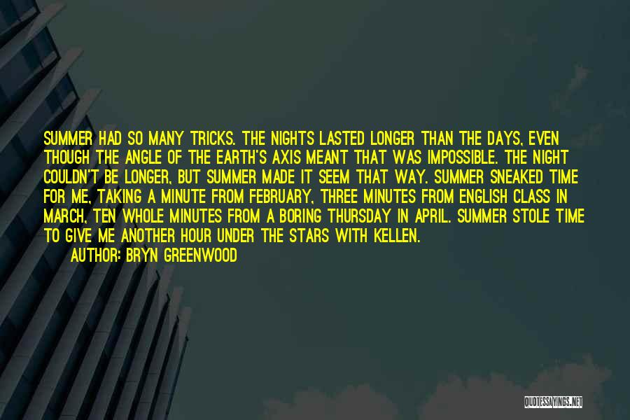 Summer Days Get Longer Quotes By Bryn Greenwood