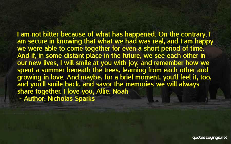Summer Love Short Quotes By Nicholas Sparks