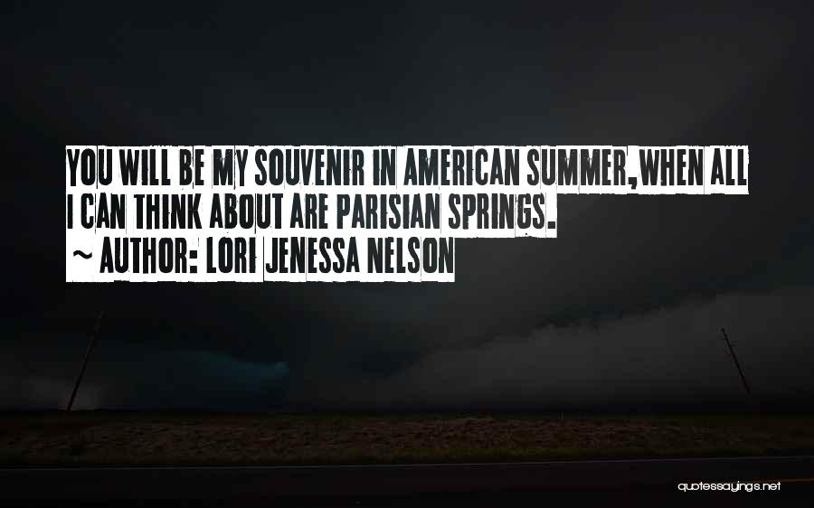Summer With Your Love Quotes By Lori Jenessa Nelson