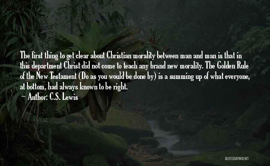 Summing Up Quotes By C.S. Lewis