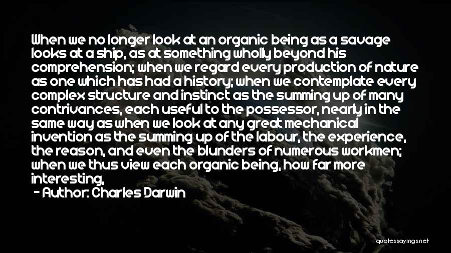 Summing Up Quotes By Charles Darwin