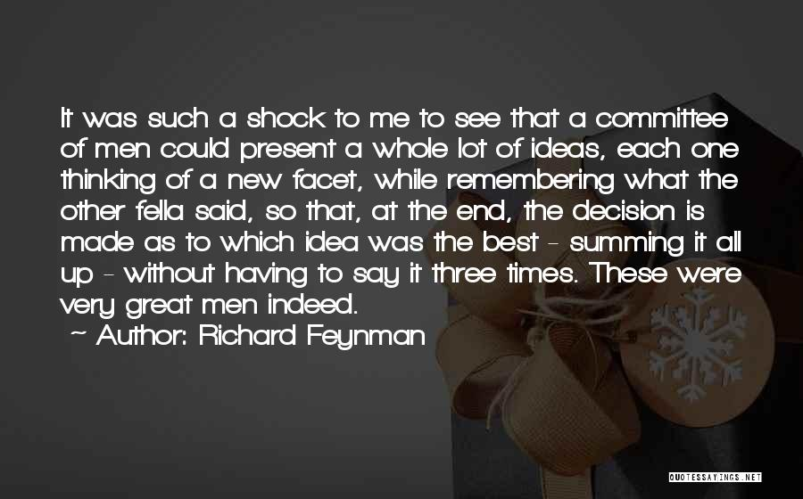 Summing Up Quotes By Richard Feynman