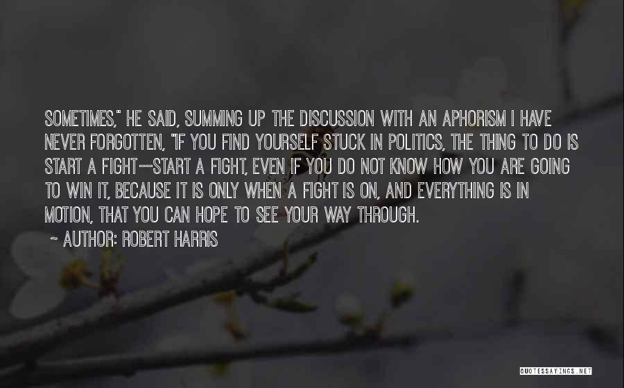 Summing Up Quotes By Robert Harris