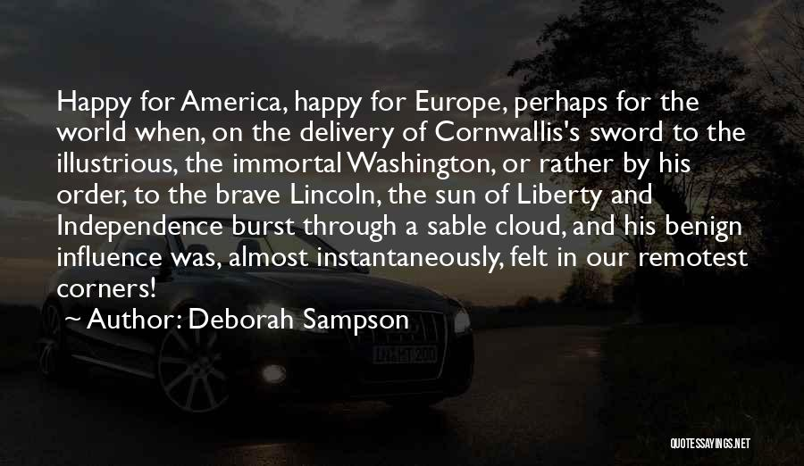 Sun Cloud Quotes By Deborah Sampson