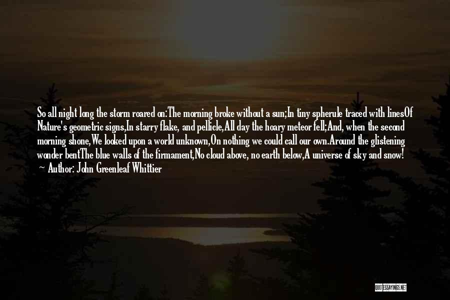 Sun Cloud Quotes By John Greenleaf Whittier