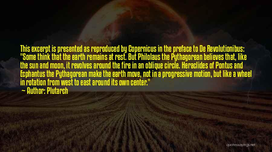 Sun Moon And Earth Quotes By Plutarch
