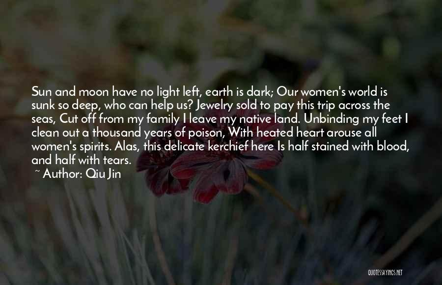 Sun Moon And Earth Quotes By Qiu Jin