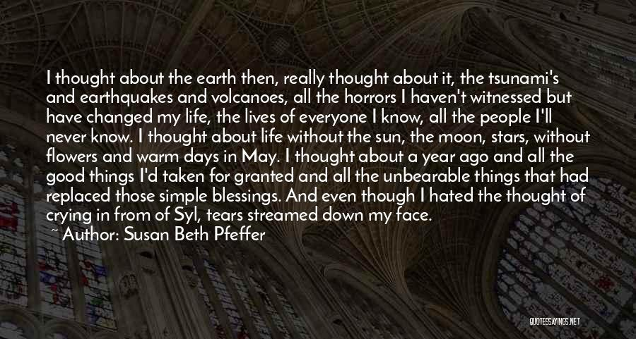 Sun Moon And Earth Quotes By Susan Beth Pfeffer