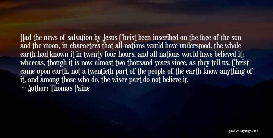 Sun Moon And Earth Quotes By Thomas Paine