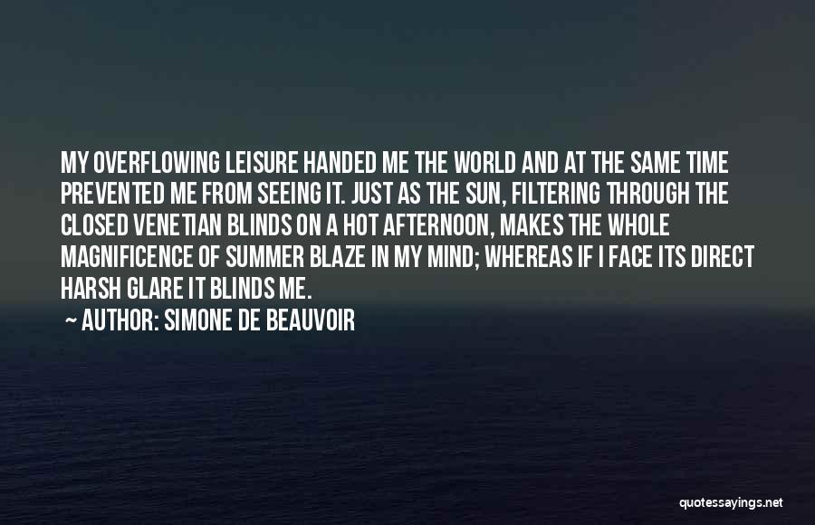 Sun On My Face Quotes By Simone De Beauvoir