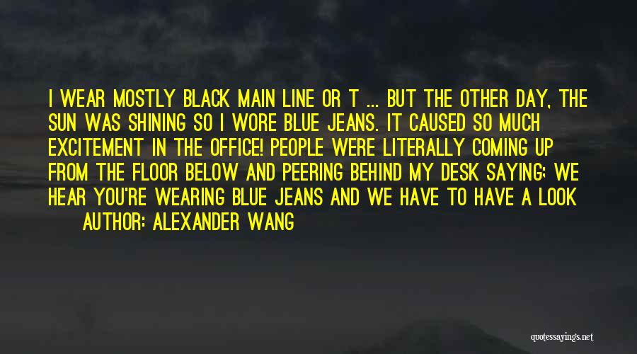 Sun Shining Day Quotes By Alexander Wang