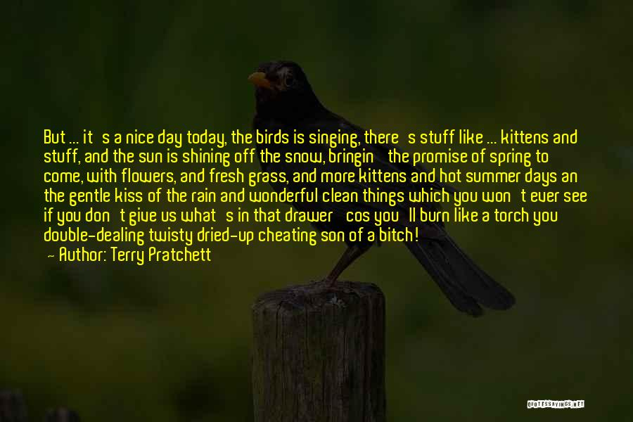 Sun Shining Day Quotes By Terry Pratchett