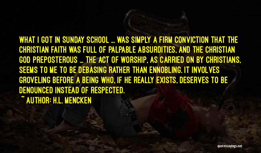 Sunday School Quotes By H.L. Mencken