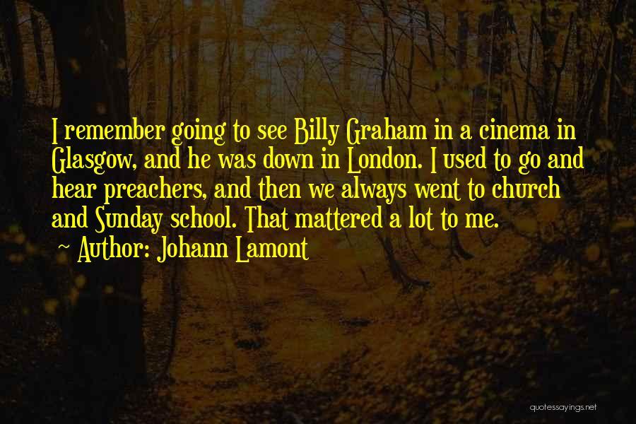 Sunday School Quotes By Johann Lamont