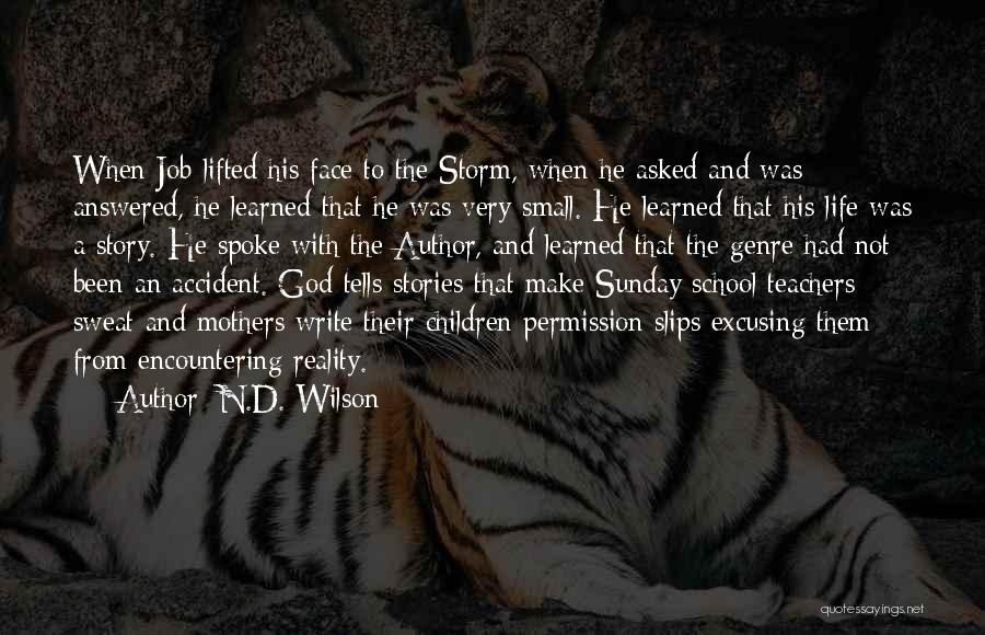 Sunday School Quotes By N.D. Wilson