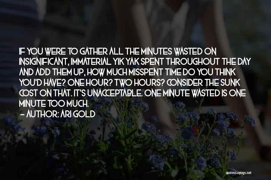 Sunk Cost Quotes By Ari Gold