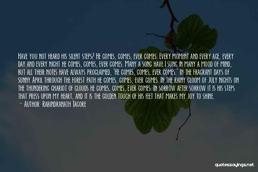Sunny Rainy Day Quotes By Rabindranath Tagore