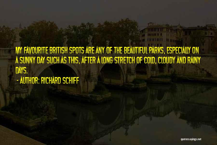 Sunny Rainy Day Quotes By Richard Schiff