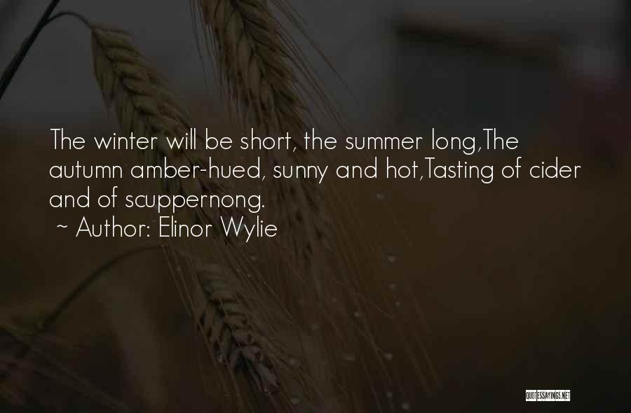 Sunny Winter Quotes By Elinor Wylie