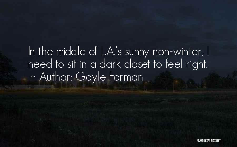 Sunny Winter Quotes By Gayle Forman