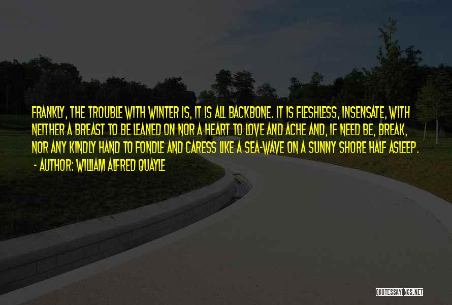 Sunny Winter Quotes By William Alfred Quayle