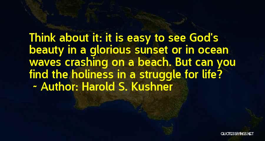 Sunset On The Beach Quotes By Harold S. Kushner