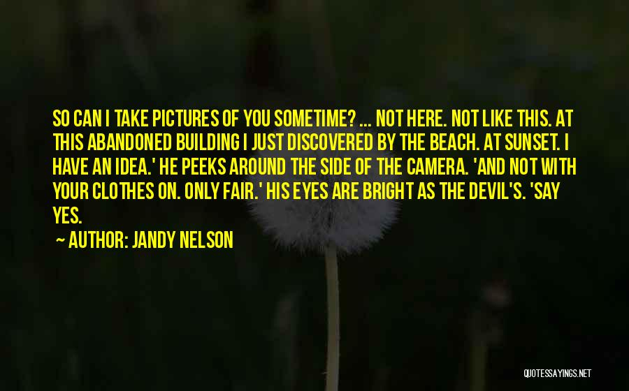 Sunset On The Beach Quotes By Jandy Nelson