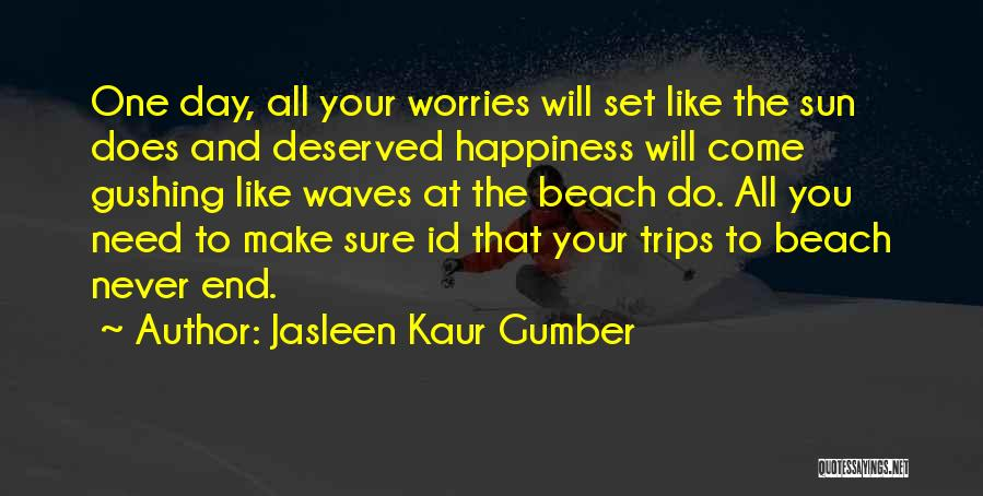 Sunset On The Beach Quotes By Jasleen Kaur Gumber