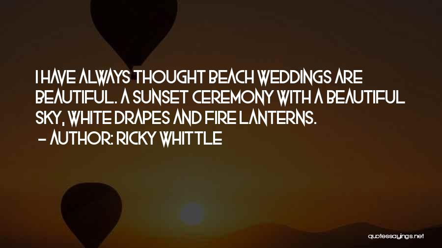 Sunset On The Beach Quotes By Ricky Whittle